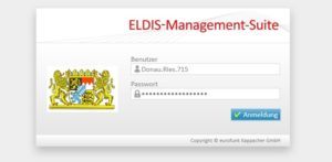 Login der ELDIS Management Suite