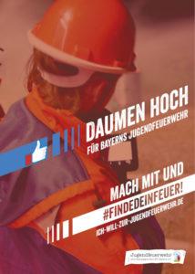 Das Plakat der diesjährigen Jugendfeuerwehrkampagne #FINDEDEINFEUER