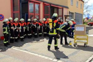 Auch besondere Brandphänomene standen auf dem Programm